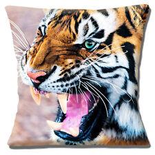 Tigre Funda de Cojín Animal Salvaje Gruñido Baring Dientes Multicolor 40.6cm 40