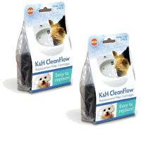 2-Packs-of-3 K&H Pet Products CleanFlow Replacement Filters 2521 - Small