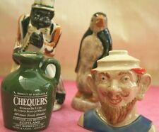 Four Miniature Drinks Bottles, Drioli Jazz Man,Penguin Apricot Wine,Chequers,Rum