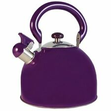 Le Chef Stainless Steel Whistling Purple Tea Kettle 3-Qt, on Sale.