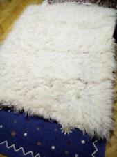 4500 Grams ORGANIC WHITE NATURAL FLOKATI 100% WOOL RUG 7' x 5.2'