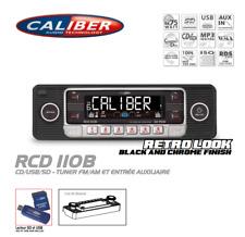 Autorradio Vintage Look Retro Negro RCD110 CD/USB/SD Caliber