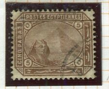 EGYPT; 1879 early classic pyramid issue fine used 5pa. value