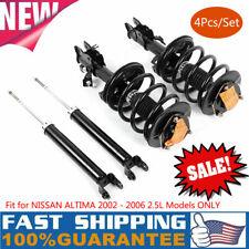 For 2002 2003 2004 2005 2006 Nissan Altima 2.5L Front Strut Rear Shocks 4pcs Kit