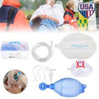 Manual Resuscitator PVC Adult Breathing Ambu Bag+Oxygen Tube CPR First Aid kit