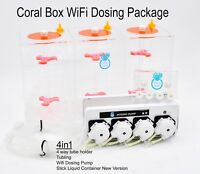 Coral Box Wifi 4 Channel Dosing Pump, 3x1.5l Dosing Container Package 4 in 1