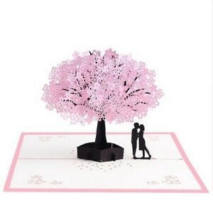 3D Pop Up Gift Card For Valentines Wedding Anniversary Greeting