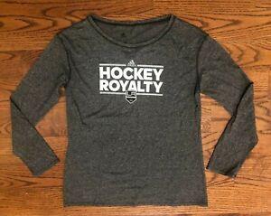 Los Angeles Kings NHL adidas Hockey Royalty Long Sleeve Shirt Women's Large