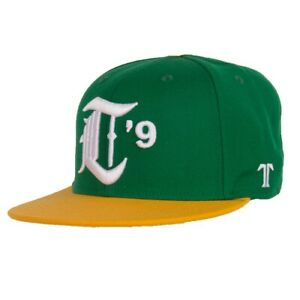 Technine Major League Fitted Baseball Hat Size 7 1/2 Green And Yellow New