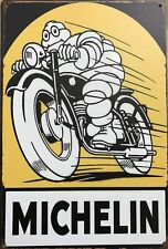 MICHELIN Rustic Metal Tin Sign. Plaque Vintage Garage, Cafe, Bar & Man Cave