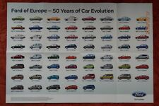 Ford Car Poster 50 years -  80 x 52 cm wall, garage or workshop