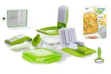 NICER DICER CHEF 16 pezzi vetro ciotola/2in1/COLTELLO PELAPATATE B-Ware Verde
