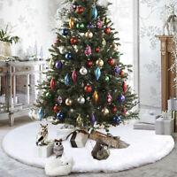 78 90 122cm White Snowflake Christmas Tree Skirt+4 6 7 8 10ft Stand Base