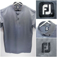 FootJoy FJ Mens Medium Golf Shirt Polo Gray Polyester Spandex