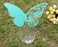40x Tiffany Blue Butterfly Name Card Place Card Function Wedding Banquet Decor