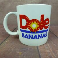 Dole Bananas Coffee Tea Mug Cup Vintage Advertising Logo White