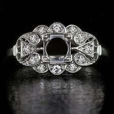 VINTAGE SETTING 5MM-6MM ROUND FLOWER SEMI MOUNT ROUND DIAMOND DECO STYLE RING