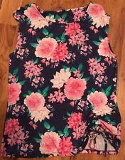 Ladies Floral Short Sleeved Top Size 16