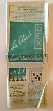 ANCIEN DEPLIANT PROGRAMME CINEMA REX CHOLET NOVEMBRE 1960