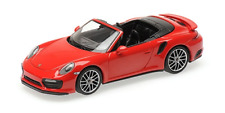 Porsche 911 (991.2) Turbo S Cabrio 2017 rot 1:43 Minichamps 410067180 neu + OVP