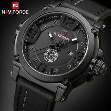 NAVIFORCE Luxury Men Sports Military Analog Quartz Watch Date Wristwatch Leather