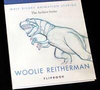 Walt Disney NINE OLD MEN Woolie Reitherman Flipbook Tyrannosaurus Rex Animation