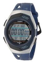 Casio Men's Digital 60-Lap Memory 10-Yr Battery Blue Resin Watch STR300C-2V