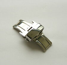 20mm Double Push Deployant Buckle Stainless Steel Polished Clasp