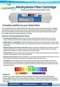 AWESOME WATER® FILTER - Alkahydrate Alkaliser Filter (For Under Sink)