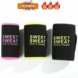 Sweet & Sweat Premium Waist Trimmer For Men & Women Sport Workout Girdles Excerc