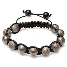 Shamballa Bracelet Pave Unisex Hip Hop Eleven Gun Powder Tone Frosted Ball Bead
