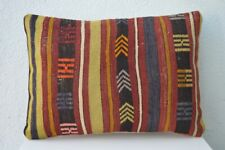 "Anatolia Kilim Lumbar Pillow Cover Long Rug Pillow 20""x14"" Cushion Throw Pillows"