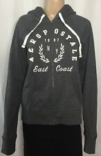 Aeropostale Zip Front Hoodie Juniors Size Large Charcoal Gray Slim Fit NWT