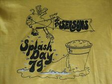 Vintage 70's The Seasons Splash Day 1979 Soft Thin Yellow 50/50 T Shirt Size M