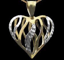 Echtschmuck-Bettelarmbänder & -Anhänger aus mehrfarbigem Gold mit Herz