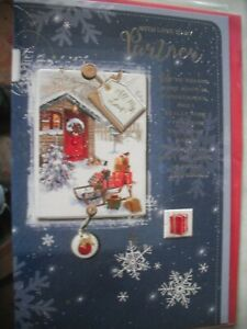 With Love To My PARTNER Happy Christmas (Sleigh of Presents in Snow) Card