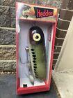 Vintage Original BOXED Giant Heddon Baby Torpedo Fishing Lure Display X0361 Bass