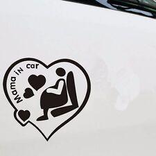 NUOVA MAMMA IN CAR Windshield carrozzeria Lunotto Posteriore Adesivo Vinile per Auto-NERO