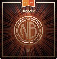 D'Addario Acoustic Guitar Strings Nickel Bronze 10-47