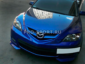 Mazda 3 (hatchback) 2003 2004 2005 2006 2007 2008 front bumper lip spoiler fangs