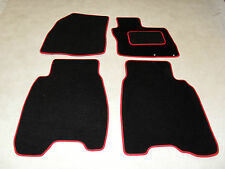 Honda Civic Type S 2008-on Fully Tailored Car Floor Mat Set in Black/Red Trim