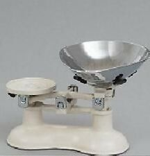 Traditional Victor Cast Iron Enamelled Balance Kitchen Scales Scale Cream Chrome