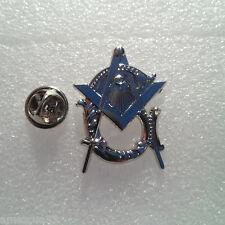 Large Masonic Antique Style Master Mason Lapel Pin BRITE Silver Finish