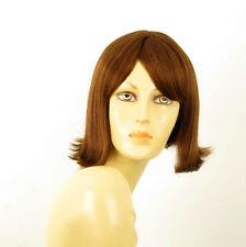 perruque femme 100% cheveux naturel châtain clair cuivré ref ZOLA 30