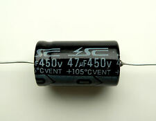 47uF 450V Axial Capacitor HiFi and Guitar Valve Tube Amplifier smoothing 105C