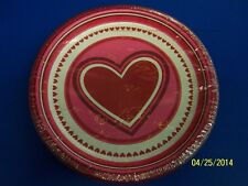 "Happy Heart Day Red Pink Valentine's Day Holiday Party 9"" Paper Dinner Plates"