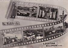 * SANTA GIUSTINA BELLUNESE - Panorami su pellicola 1962