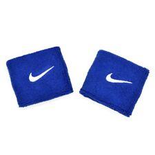 Nike Swoosh Wristbands 1 Pair Blue X White Swoosh