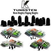 Tungsten Worm Weights - Terminal Tackle, Small Profile, BLACK