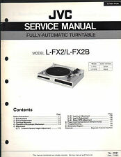 Service Manual JVC L-FX2 /B turntable record player Repair book schematic